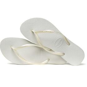havaianas Slim Sandales Femme, white
